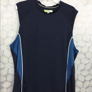 Two-tone blue Men's Tek Gear workout shirt (XL)